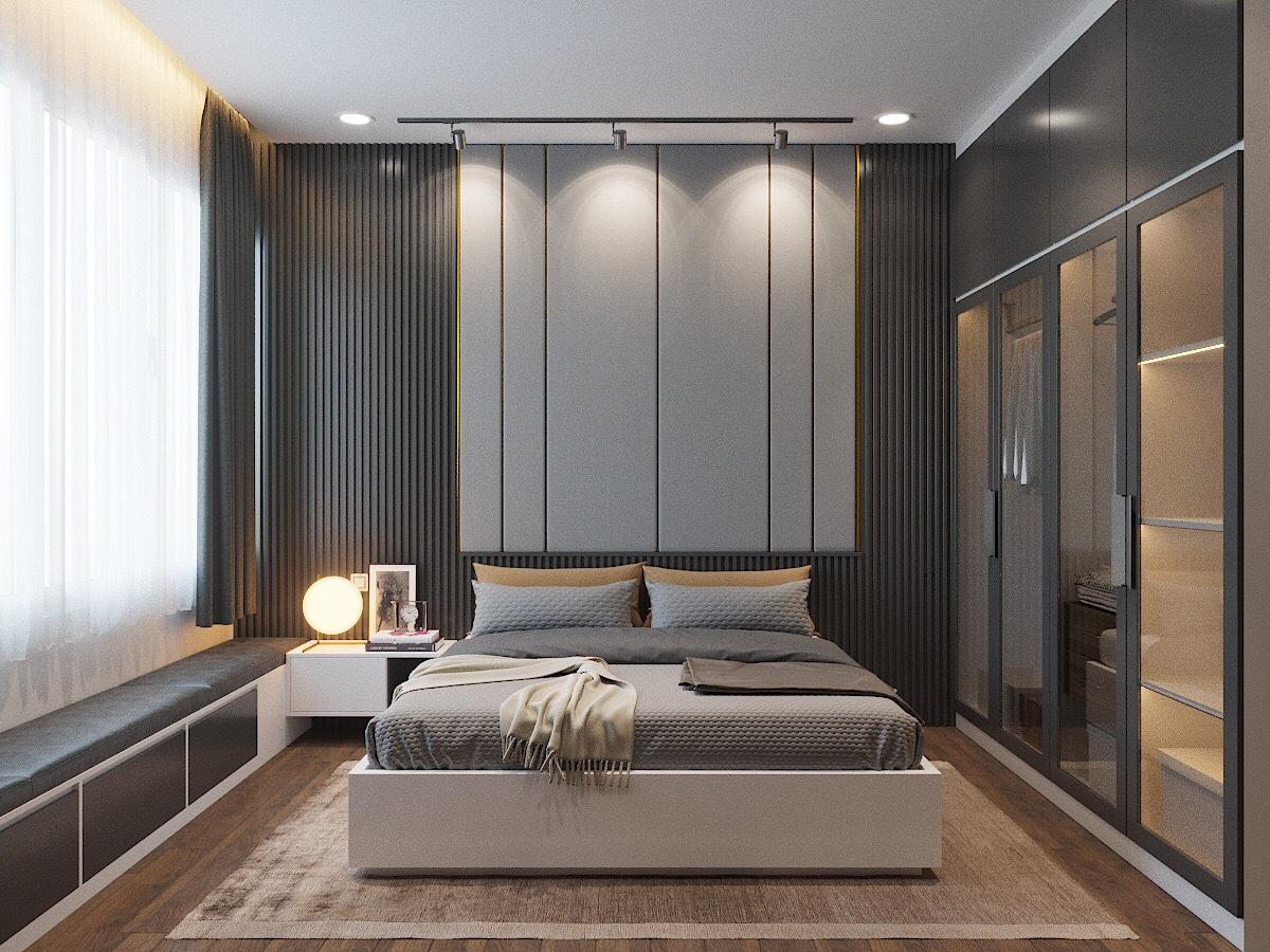 Màu sơn trong phòng ngủ, màu sắc rèm cửa nên sử dụng màu Xanh dương, Đen, đây là màu đại diện cho hành Thủy, rất tốt cho người hành Mộc.