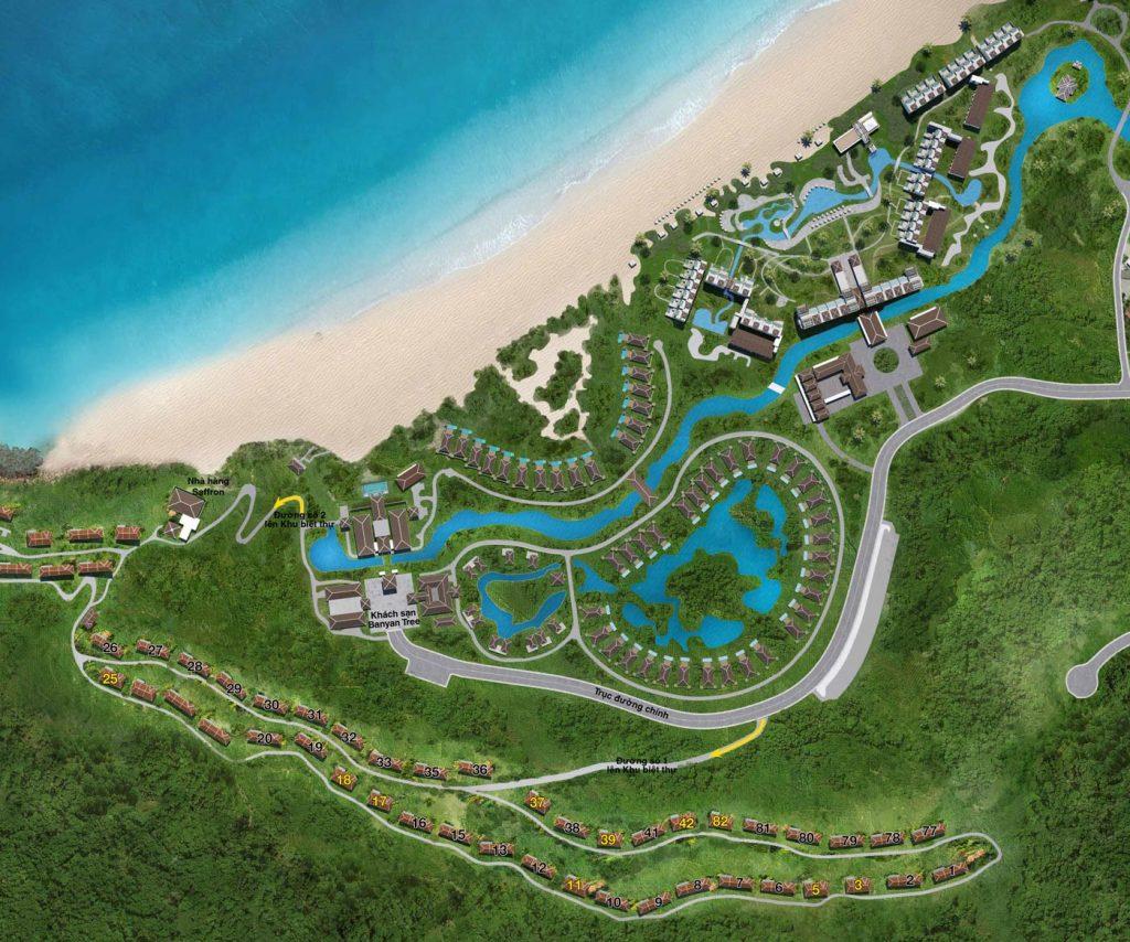 Mặt bằng tổng thể dự án Banyan Tree Residences Lăng Cô