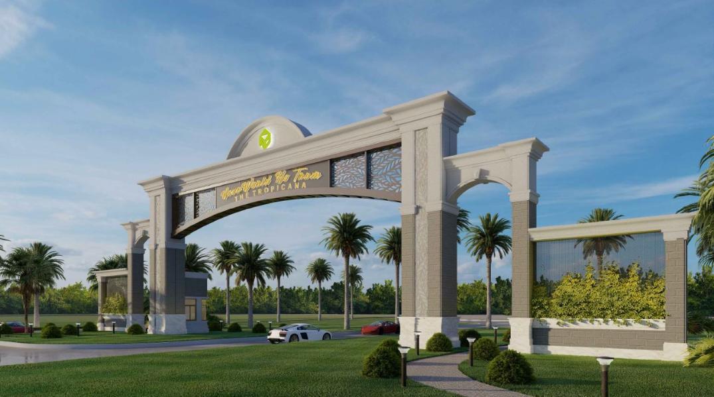 Thiết kế cổng chào dự án NovaWorld Hồ Tràm
