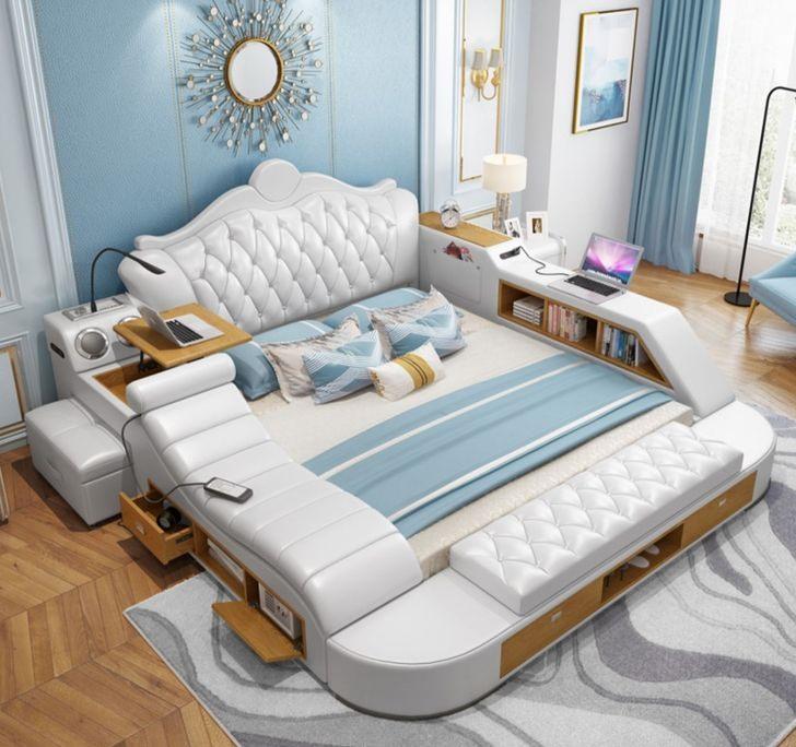 Bạn sẽ không bao giờ muốn rời khỏi phòng ngủ của mình sau khi thử chiếc giường đa chức năng này.